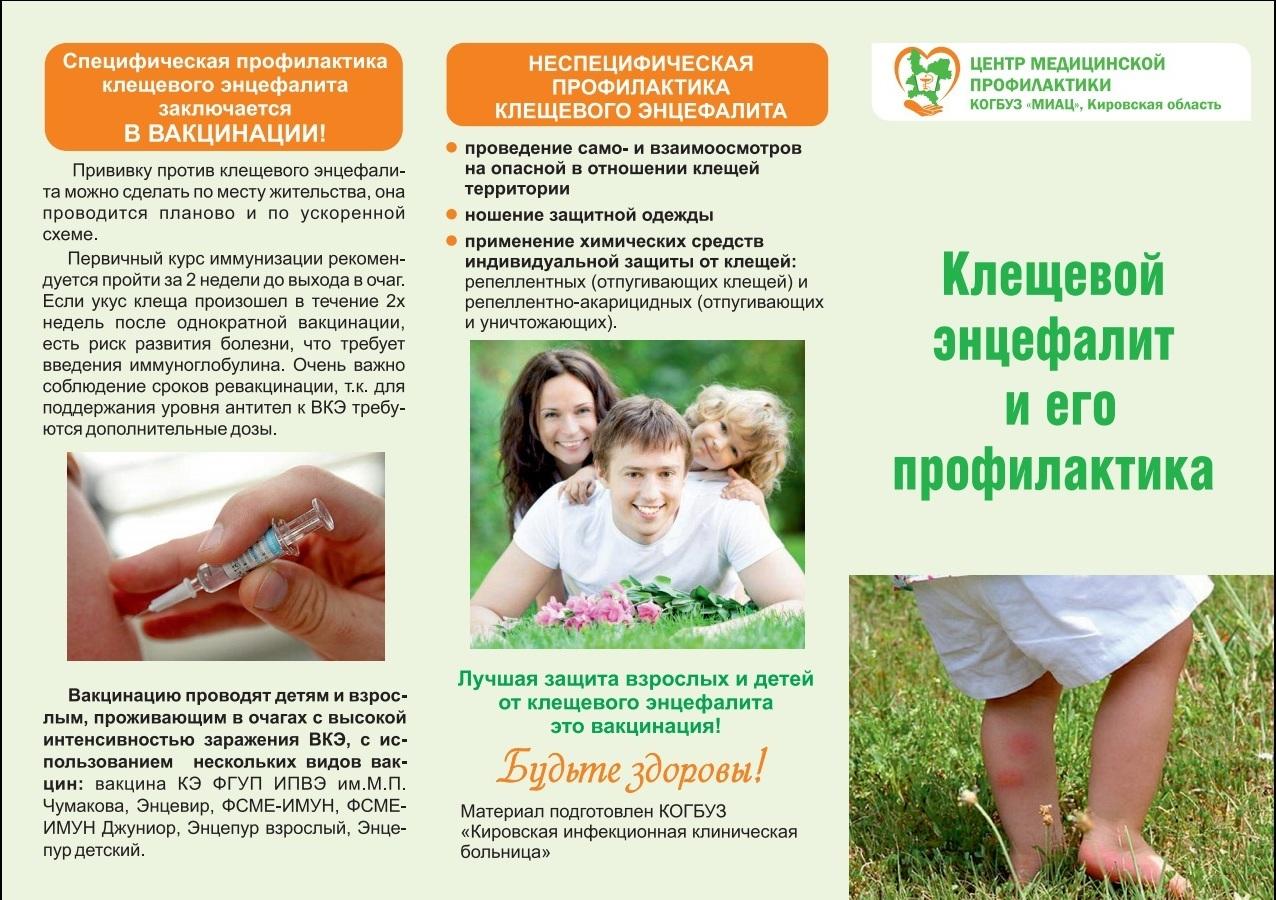 Вакцинация от клещевого энцефалита экстренная схема